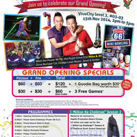 Read more about Timezone Rush Grand Opening Celebration @ VivoCity 15 - 16 Nov 2014