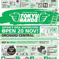 Read more about Tokyu Hands Opening @ Orchard Central From 20 Nov 2014