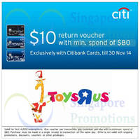 "Read more about Toys ""R"" Us Spend $80 & Get Free $10 Voucher For Citibank Cardmembers 11 - 30 Nov 2014"