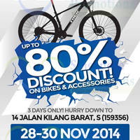 Read more about Treknology 3 Up to 80% Discount Bicycles & Accessories Sale 28 - 30 Nov 2014