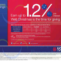 Read more about UOB Up To 1.2% p.a. Savings Deposits 3 Nov - 31 Dec 2014