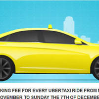 Uber $0 Taxi Booking Fees Promotion 24 Nov - 7 Dec 2014