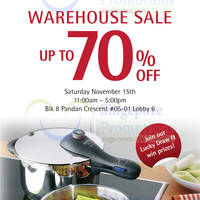 Read more about WMF Kitchenware 1-Day Warehouse SALE 15 Nov 2014