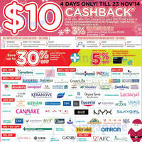 Read more about Watsons Spend $60 & Get $10 Cashback For DBS/POSB Cardmembers 20 - 23 Nov 2014