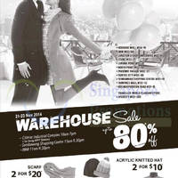 Winter Time Warehouse Sale @ Two Locations 21 - 23 Nov 2014