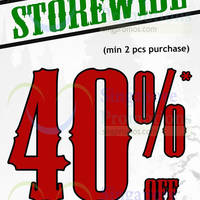 World of Sports 40% Off Storewide Promo 24 Nov 2014