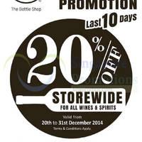 Read more about 1855 The Bottle Shop 20% Off Storewide 20 - 31 Dec 2014