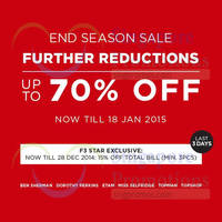 Read more about F3 Star Brands End Season Sale (Final Reductions!) 18 Dec 2014 - 18 Jan 2015