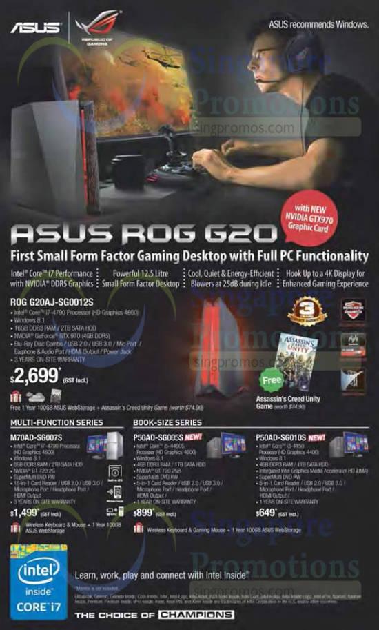 31 Dec Desktop PCs ROG G20AJ, M70AD, P50AD