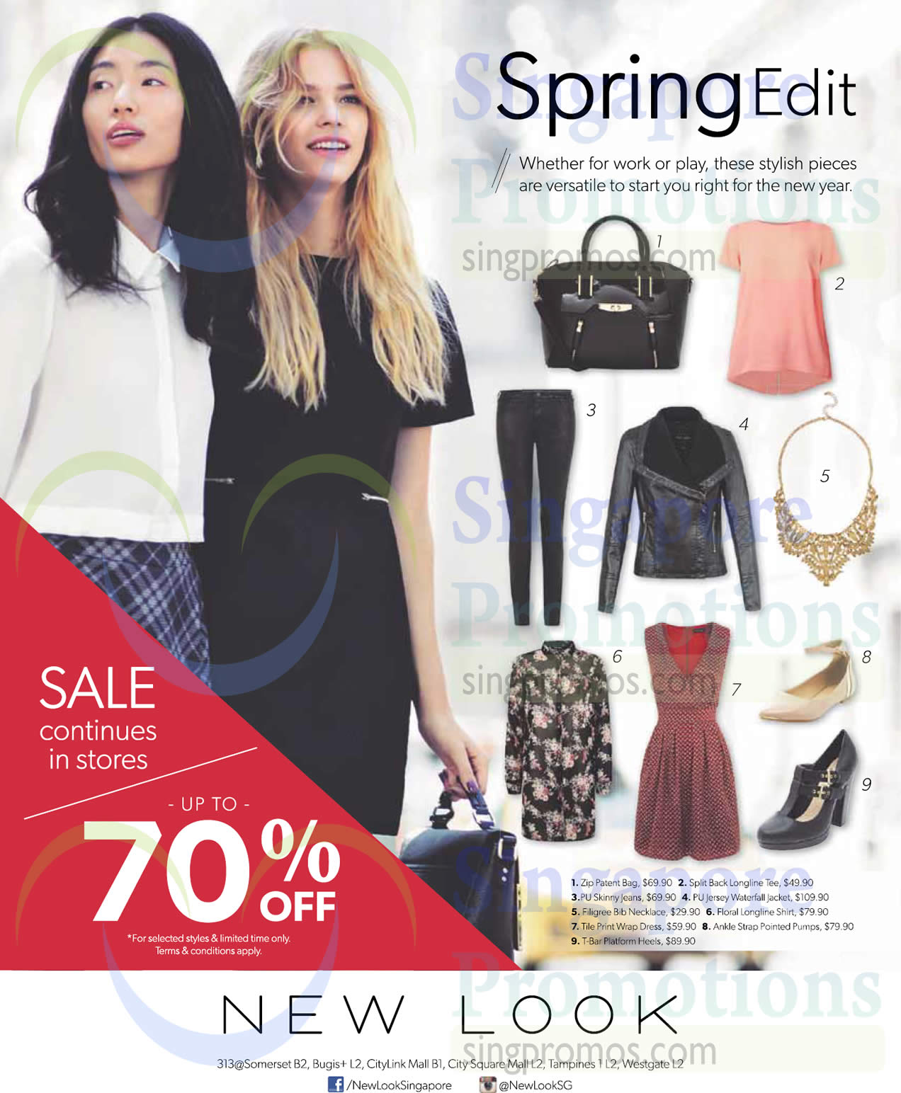 9 Jan Up to 70 Percent Off Bag, T Shirt, Jeans, Jacket, Dresses, Shoes