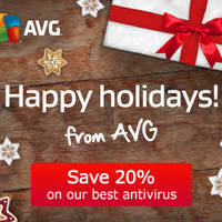 AVG 20% OFF Security Software 22 Dec 2014 - 4 Jan 2015