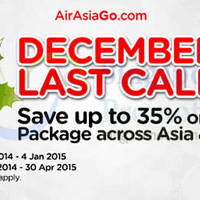 Air Asia Go Up To 35% Off Asia & Australia Packages 22 Dec 2014 - 4 Jan 2015