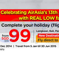 Read more about Air Asia Go From $99 Flights + Hotels Promotion 8 - 21 Dec 2014