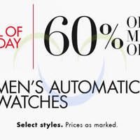 Read more about Amazon Over 60% OFF Men's Automatic Watches 24hr Promo 4 - 5 Dec 2014