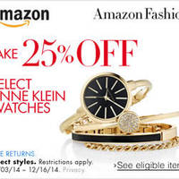 Read more about Amazon.com 25% OFF Anne Klein Watches (NO Min Spend) Coupon Code 4 - 17 Dec 2014