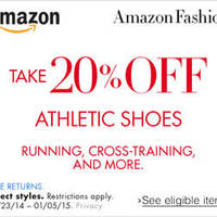 Amazon.com 20% OFF Athletic Shoes Coupon Code 21 Dec 2014 - 6 Jan 2015
