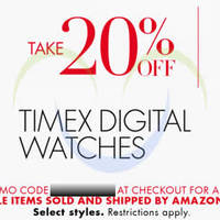 Amazon.com 20% OFF Timex Watches Coupon Code 18 Dec 2014