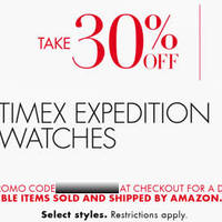 Read more about Amazon.com 30% OFF Timex Expedition Watches Coupon Code 18 Dec 2014