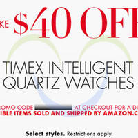 Timex $40 OFF Intelligent Quartz Watches Coupon Code 21 - 22 Dec 2014