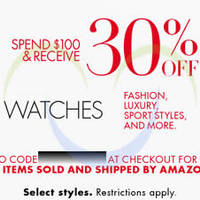 Amazon.com 30% OFF Watches Coupon Code 18 - 24 Dec 2014
