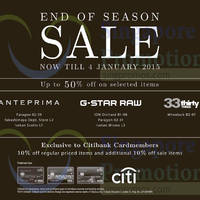 Read more about Anteprima, G-Star Raw & 33 Thirty Three SALE 5 Dec 2014 - 4 Jan 2015