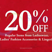 Read more about BHG 20% Off Ladieswear Promo 12 Dec 2014