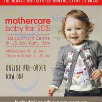 Read more about Mothercare Baby Fair 2015 @ HarbourFront Centre 21 - 25 Jan 2015