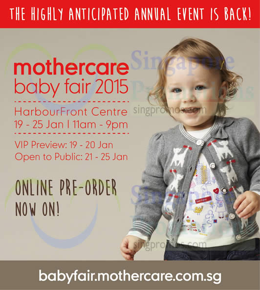Baby Fair 2015 HarbourFront Centre, Online Pre Order