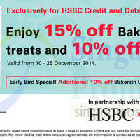 Read more about Bakerzin 15% Off For HSBC Cardmembers 5 - 25 Dec 2014