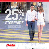 Read more about Bata 25% Off Storewide Promo 24 - 31 Dec 2014