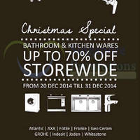 Read more about Grohe, Indesit, AXA & More Bathroom & Kitchenware Sale 20 - 31 Dec 2014