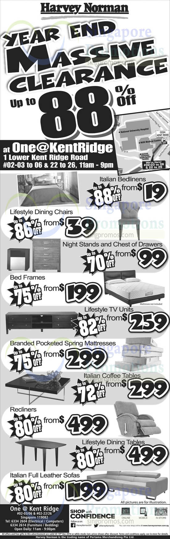 Bedlinens, Lifestyle Dining Chairs, Night Stands, Chest Of Drawers, TVs