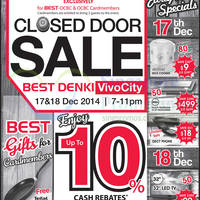 Read more about Best Denki OCBC Cardmembers Closed Door Sale 17 - 18 Dec 2014