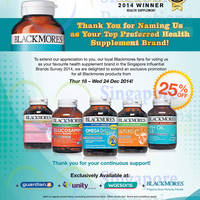 Blackmores 25% Off Storewide Promo 18 - 24 Dec 2014