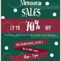 Read more about Ritz Hutchison Menswear Sale @ Toa Payoh Safra 18 - 21 Dec 2014