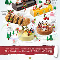 Read more about Breadtalk 20% Off Christmas Themed Cakes Early Bird Promo 1 - 13 Dec 2014