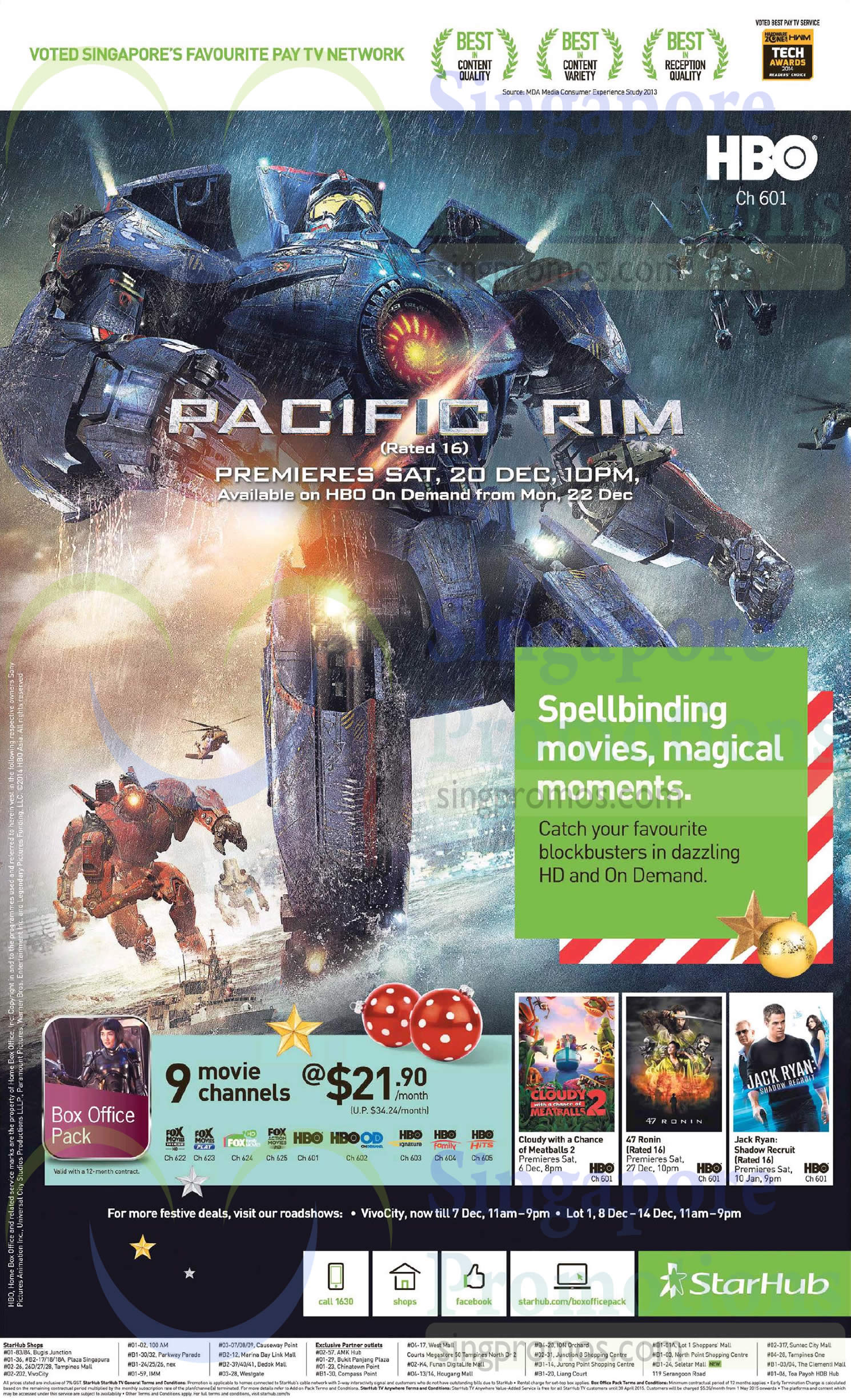 Cable TV 21.90 Box Office Pack, Vivocity, Lot 1 Roadshow