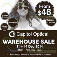 Read more about Capitol Optical Warehouse SALE 11 - 14 Dec 2014