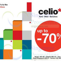 Celio* Up To 70% OFF Promo 18 - 31 Dec 2014