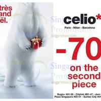 Read more about Celio* 70% OFF 2nd Piece Promo 6 Dec 2014