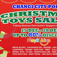 Read more about Play2Learn Christmas Toys Sale @ Changi City Point 15 - 28 Dec 2014