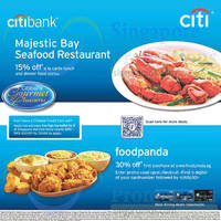 Majestic Bay Seafood & Foodpanda Offers For Citibank Cardmembers 28 Dec 2014