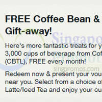 Coffee Bean & Tea Leaf FREE Beverage Voucher For Singtel Customers 18 - 21 Dec 2014