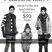 Read more about Coldwear Spend $300 & Get $50 Voucher 19 - 31 Dec 2014