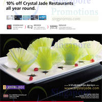 Read more about Crystal Jade 10% OFF For DBS/POSB Cardmembers 29 Dec 2014 - 30 Dec 2015