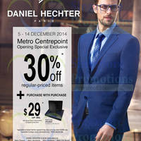 Read more about Metro 30% Off Daniel Hechter @ Centrepoint 5 - 14 Dec 2014