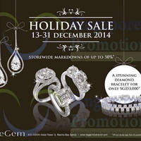Read more about DeGem Holiday Sale 13 - 31 Dec 2014