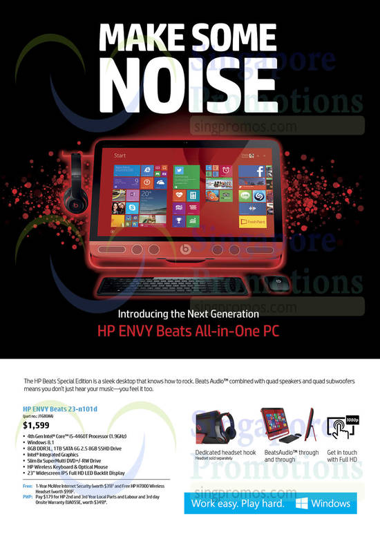 HP ENVY Beats 23-n101d Desktop PC
