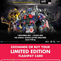 Read more about Exchange Old Ezlink Card For FREE Transformers Nets FlashPay Card 14 Dec 2014