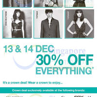Read more about F3 Brands 30% Off Everything Weekend Promo 13 - 14 Dec 2014